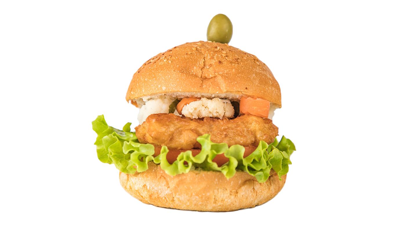 Sandwich Angola - Hambúrguer de peixe