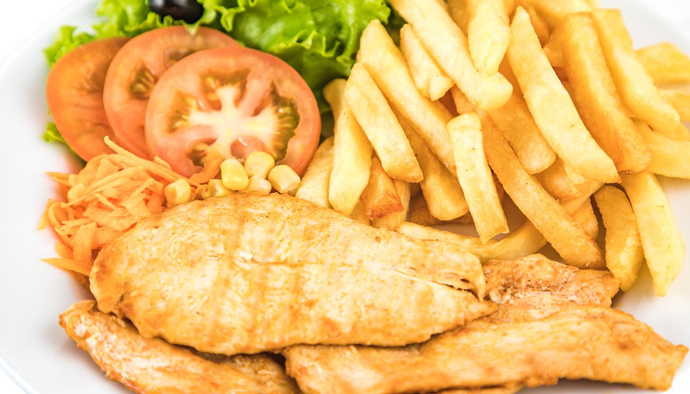 Sandwich Angola - Peito de frango no prato