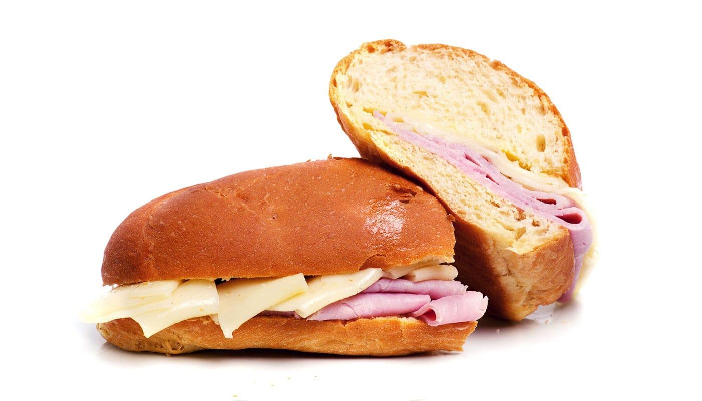 Sandwich Angola - Pão de leite misto