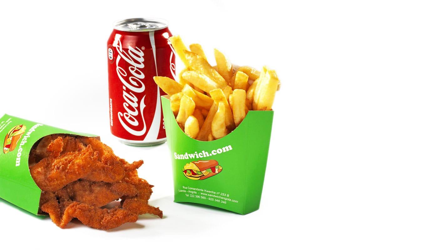Sandwich Angola - Menu Chicken Nuggets