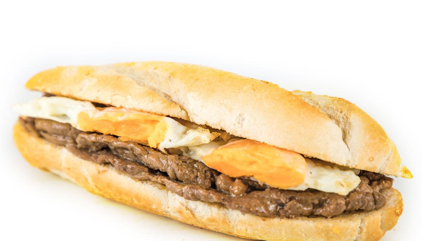 Sandwich Angola - Prego no pão