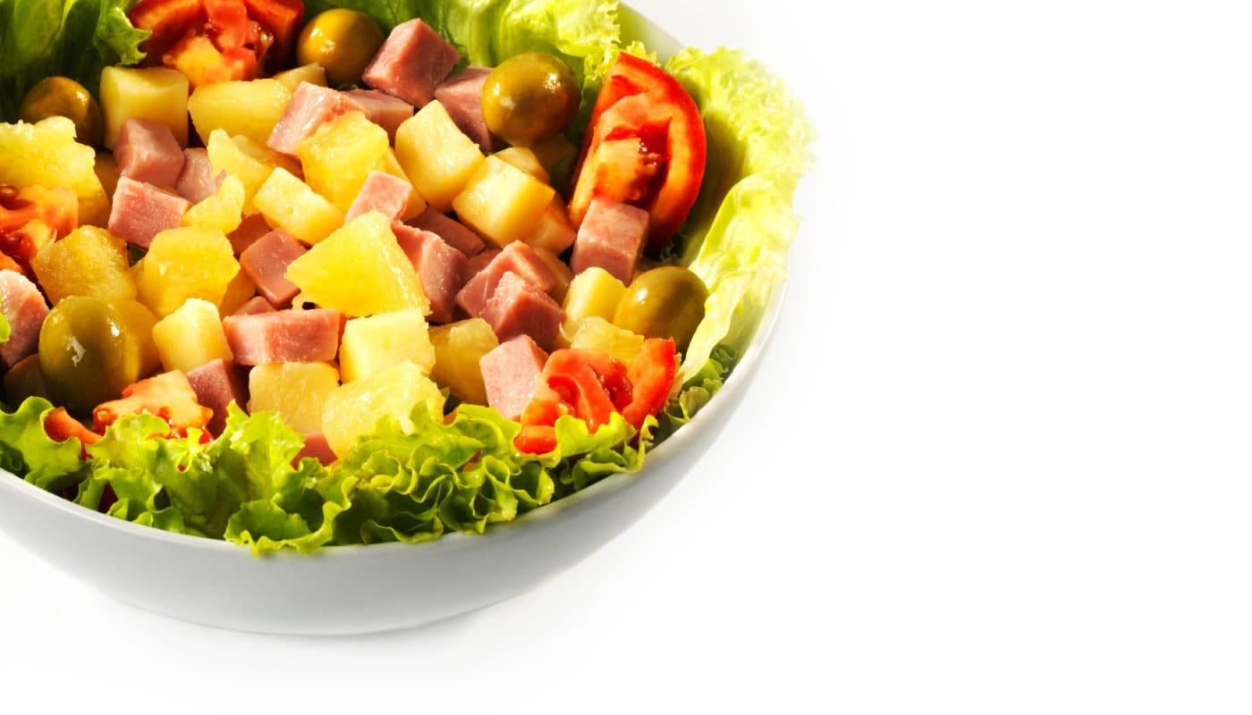 Sandwich Angola - Salada Havaiana